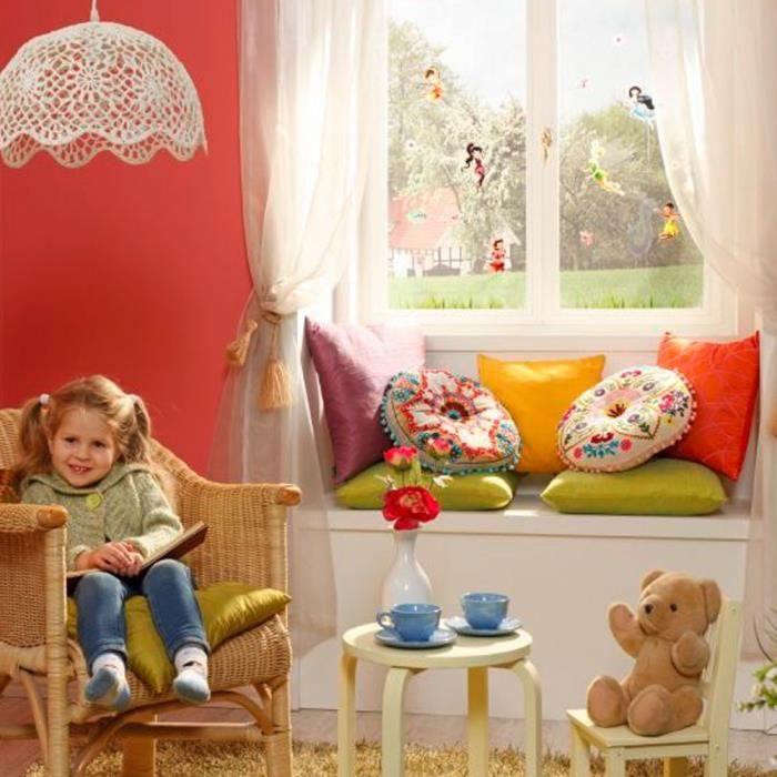 18 stickers pour vitre f e clochette disney fai achat vente stickers cdiscount. Black Bedroom Furniture Sets. Home Design Ideas