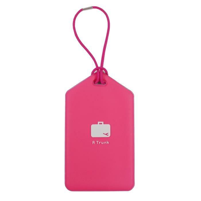 Porte etiquette nom adresse bagage rose achat vente for 1 porte etiquette de voyage