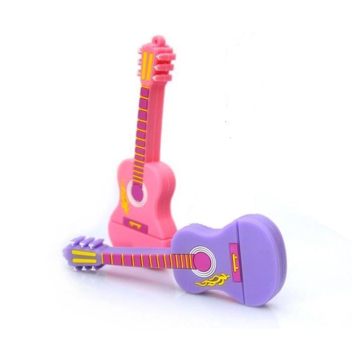 cl usb guitare capacit 8gb rose achat vente cl. Black Bedroom Furniture Sets. Home Design Ideas