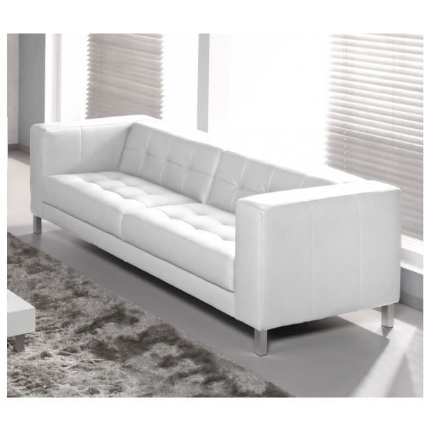 Canap capy 3 4 places couleur blanc achat vente canap sofa di - Canape ultra confortable ...