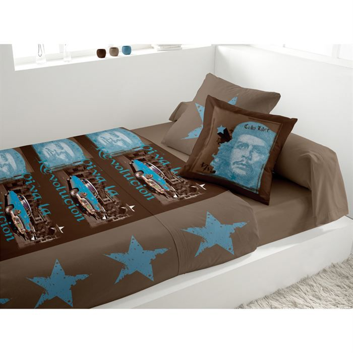 parure de lit revolucion chocolat achat vente parure de lit cdiscount. Black Bedroom Furniture Sets. Home Design Ideas