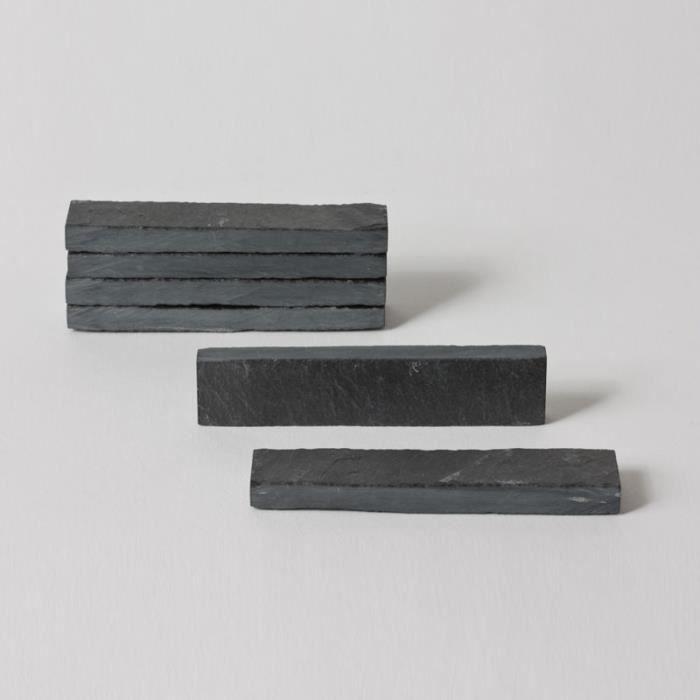 table passion lot 6 porte couteaux ardoise achat. Black Bedroom Furniture Sets. Home Design Ideas