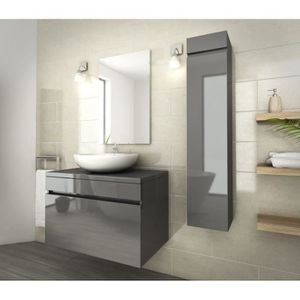 SALLE DE BAIN COMPLETE LUNA Salle de bain complète simple vasque L 80 cm