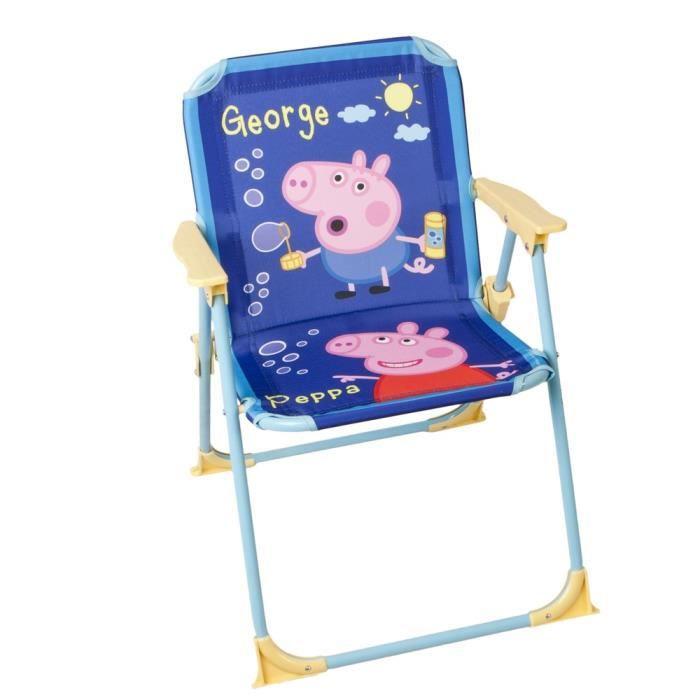 Chaise pliable pour enfant peppa et george pig achat - Chaise enfant pliable ...