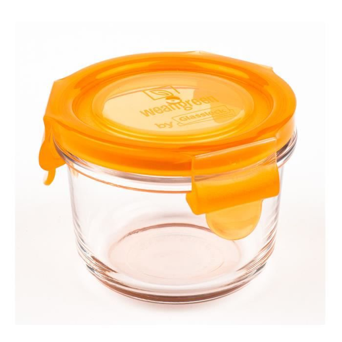 1 pot de conservation en verre tremp 165ml weangreen - Pot conservation verre ...