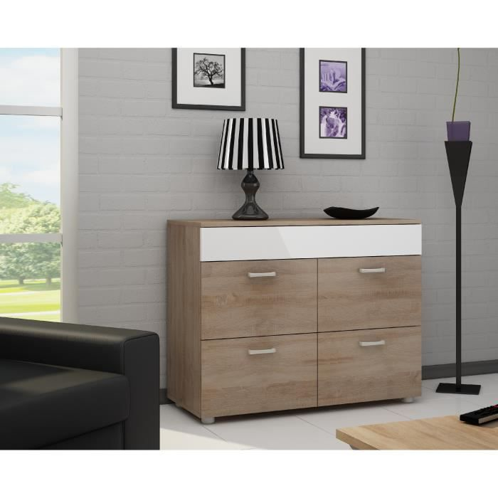 buffet g rard sonoma ch ne blanc brillant achat vente buffet bahut buffet g rard. Black Bedroom Furniture Sets. Home Design Ideas