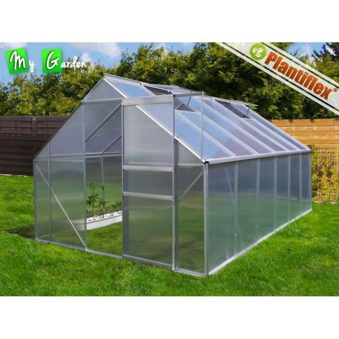 Serre de jardin 250x370 aluminium polycarbonate achat vente serre de jard - Serre alu polycarbonate ...
