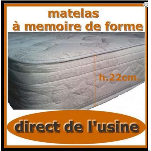 Matelas a memoire de forme 160x190h22cm achat vente cache sommier cdisc - Matelas memoire de forme 160 ...