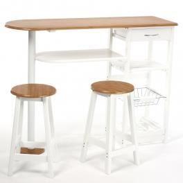 Table bar et deux tabourets meuble s parateur achat vente mange debo - Ensemble table bar et tabouret ...