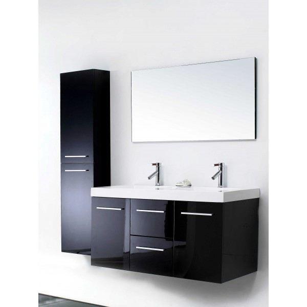 Ensemble de salle de bain en bois laqu avec tu achat for Tuyauterie salle de bain