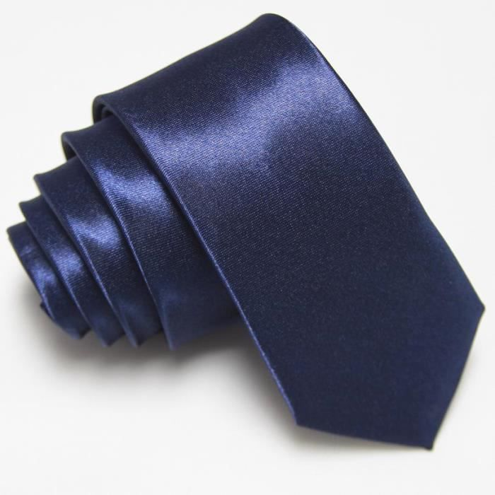 cravate satin e brillante couleur bleu nuit bleu nuit. Black Bedroom Furniture Sets. Home Design Ideas