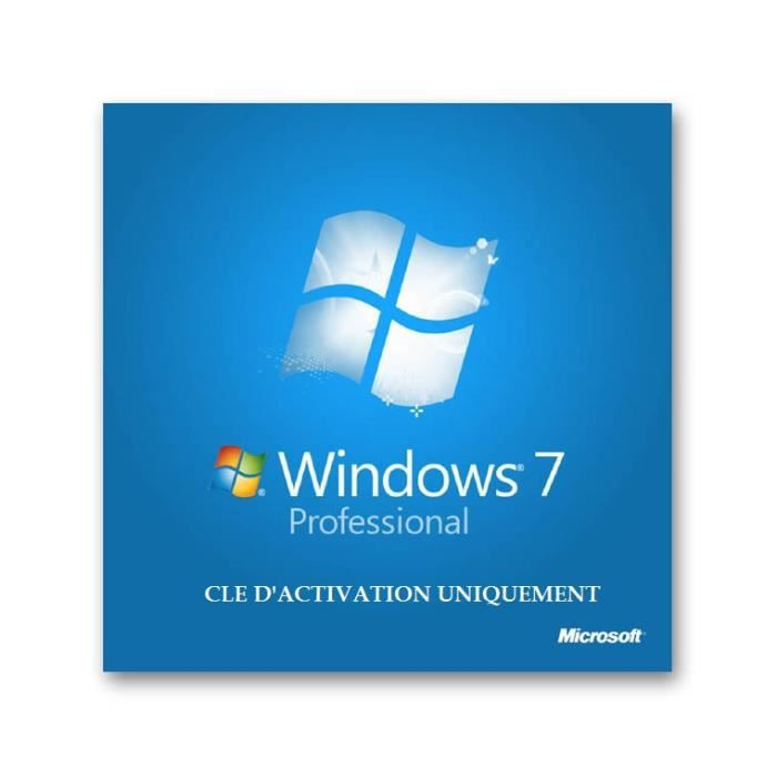 Windows 7 professionnel 32 bits 64 bits 1 poste cle d 39 activation uniquement prix pas - Cle activation office 365 famille premium ...