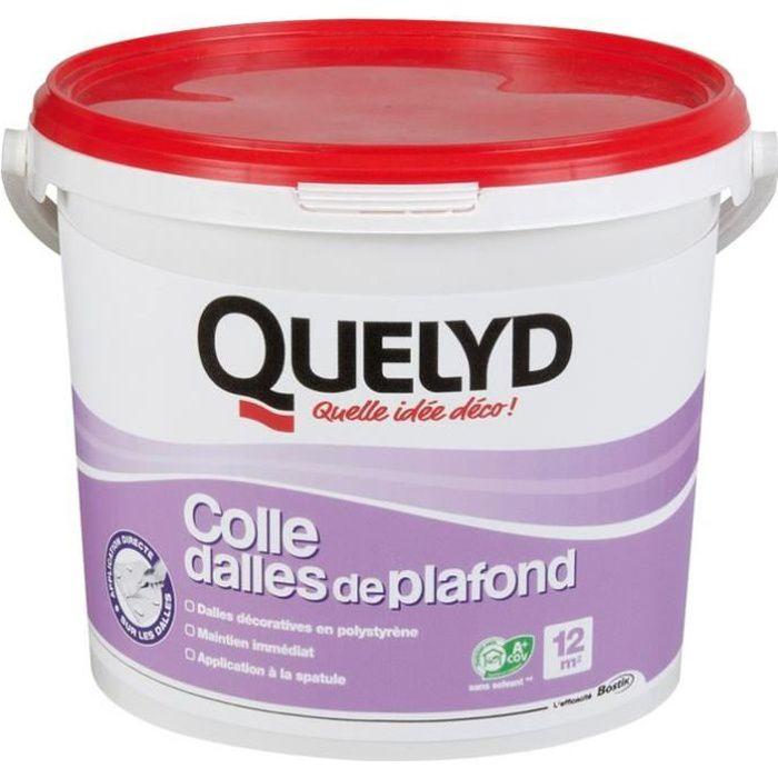 Colle dalle de plafond quelyd seau 4 kg achat vente - Dalle polystyrene plafond interdit ...