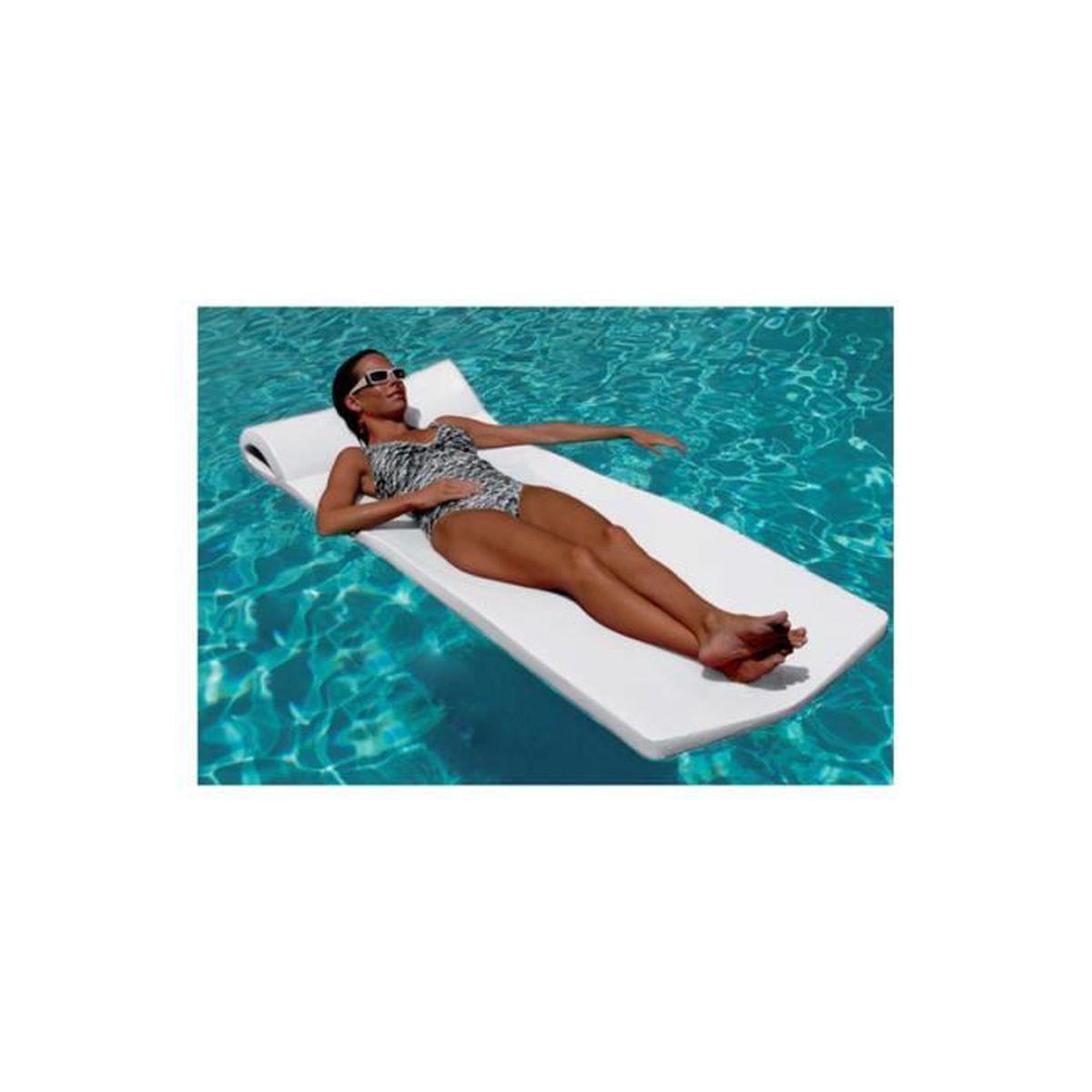 matelas mousse sunsation blanc 178 x 66 x 4 5 pour piscines enterr es et hors sol achat. Black Bedroom Furniture Sets. Home Design Ideas