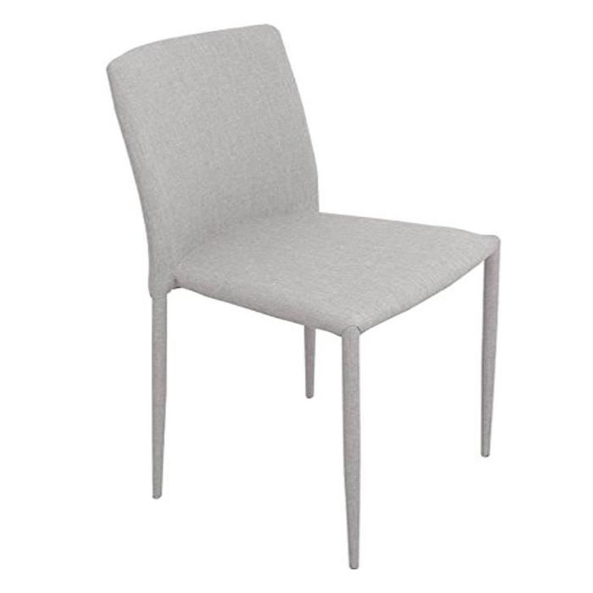 Lot de 4 chaises tissu suzy taupe achat vente chaise - Ajouter peu doriginalite interieur les chaises tolix ...
