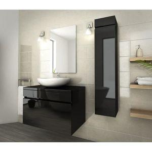 Meuble salle de bain noir laque achat vente meuble salle de bain noir laq - Salle de bain complete ...