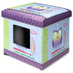 D&D Maisonnette Ottoman - 38x38x38cm - Bleu - Pour chat ou petit chien