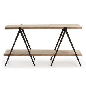 console fer et bois achat vente console fer et bois. Black Bedroom Furniture Sets. Home Design Ideas