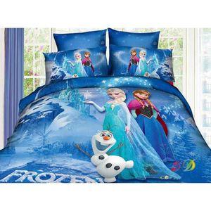 drap la reine des neiges achat vente drap la reine des neiges pas cher cdiscount. Black Bedroom Furniture Sets. Home Design Ideas