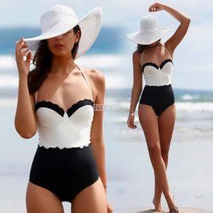 MAILLOT DE BAIN Sangle de femmes sexy Bikini une pièce maillots de