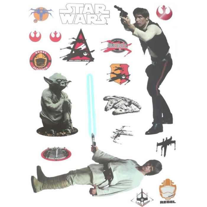 Stickers star wars rebelles achat vente stickers for Autocollant mural star wars