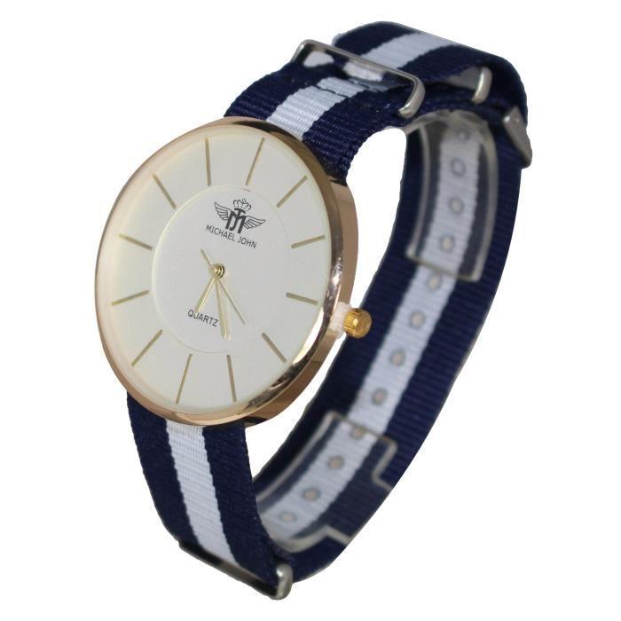 montre femme bracelet tissus london canterbury lady michael john tendance achat vente montre. Black Bedroom Furniture Sets. Home Design Ideas