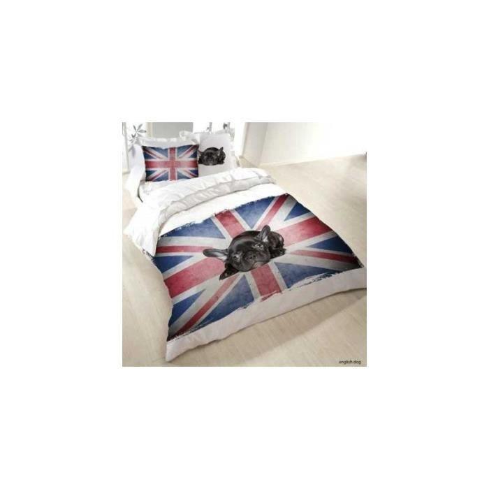 Housse de couette chien achat vente housse de couette for Housse de couette drapeau