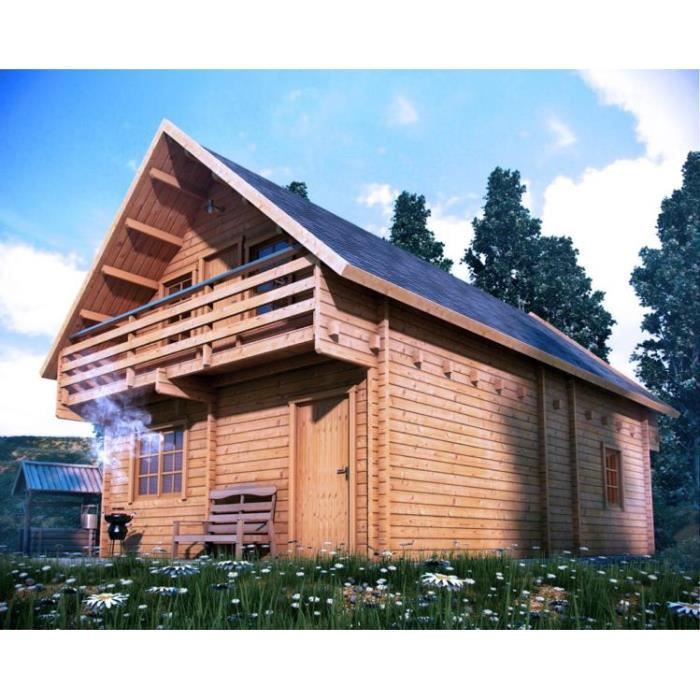 chalet en bois vella 100m2 90 mm achat vente abri jardin chalet chalet en bois vella. Black Bedroom Furniture Sets. Home Design Ideas