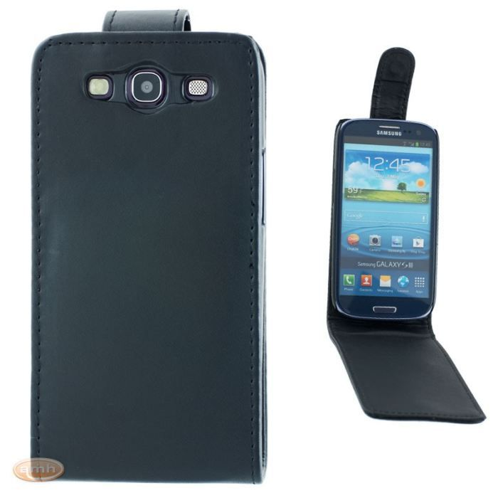 Housse galaxy s3 grand confort noire achat housse tui for Housse samsung s3