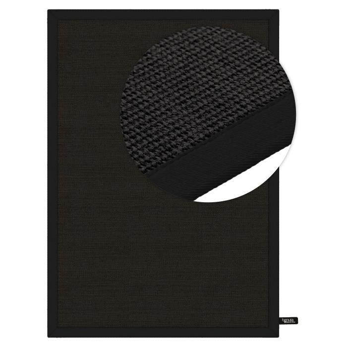benuta tapis sisal noir 300x400 cm achat vente tapis les soldes sur cdiscount cdiscount. Black Bedroom Furniture Sets. Home Design Ideas