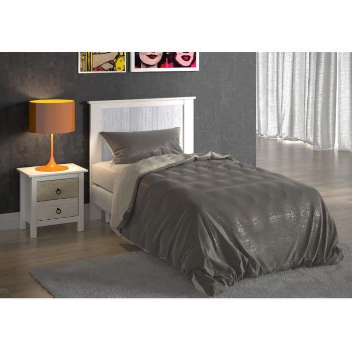 dina t te de lit 104 cm blanc et gris achat vente t te de lit dina t te de lit 90cm bois. Black Bedroom Furniture Sets. Home Design Ideas