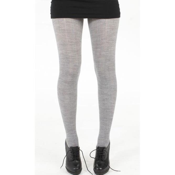 collant laine tricot gris achat vente collant. Black Bedroom Furniture Sets. Home Design Ideas