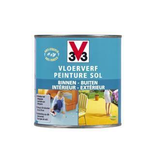 V33 peinture sol sans odeur sable satin 2 50 l achat for Peinture sol ciment