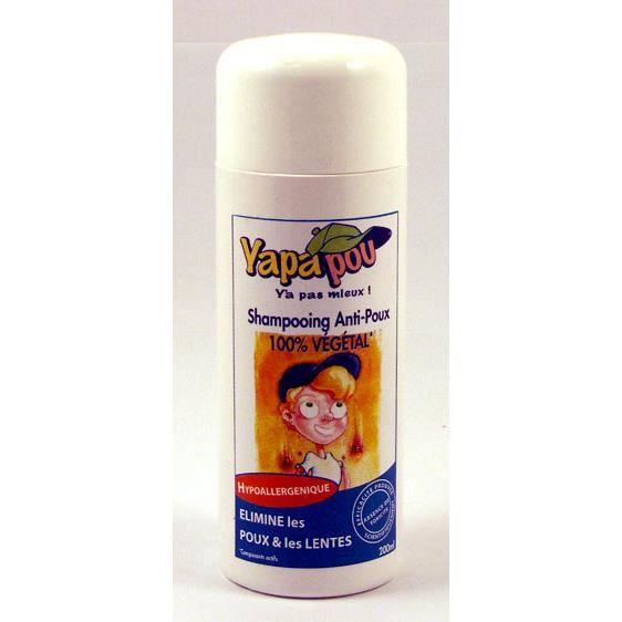 Shampooing naturel anti poux et lentes 200ml yapapou for Anti poux maison
