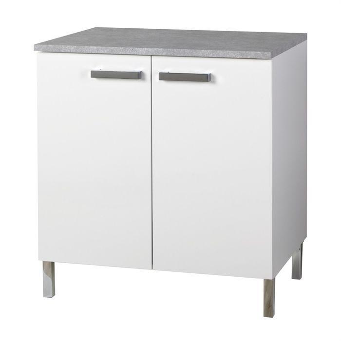 Suny meuble bas de cuisine avec plan de travail inclus 80 - Meuble avec plan de travail cuisine ...