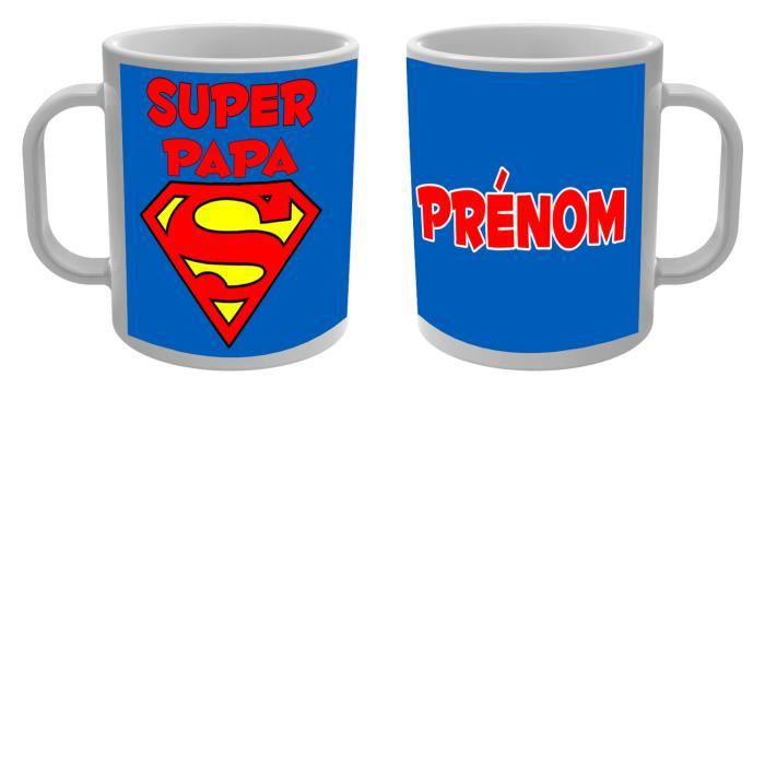 mug tasse super papa avec pr nom personnalis achat vente bol mug mazagran cdiscount. Black Bedroom Furniture Sets. Home Design Ideas