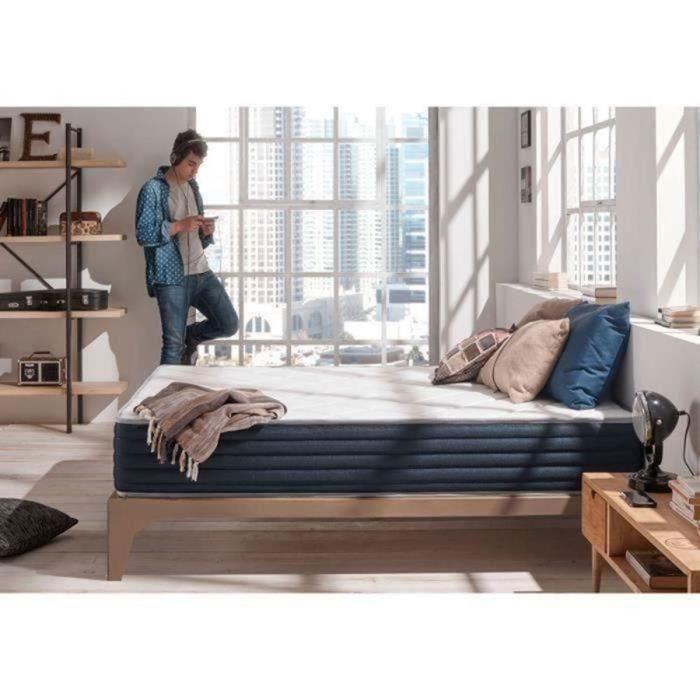 matelas aura 160x190 cm 2 faces m moire blue latex 25. Black Bedroom Furniture Sets. Home Design Ideas