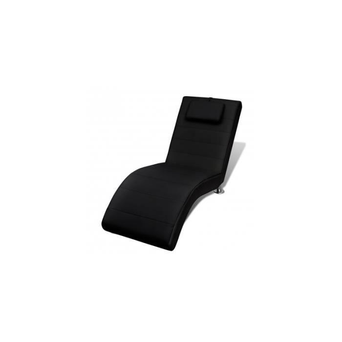 Chaise longue noire avec 2 achat vente fauteuil noir for Chaise longue noire