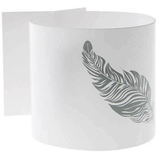6 ronds de serviette plume blanc achat vente serviette for Rond de serviette maison