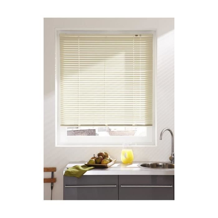 store v nitien aluminium beige achat vente store de fen tre aluminium l. Black Bedroom Furniture Sets. Home Design Ideas