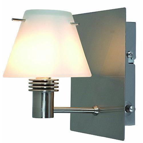 naeve leuchten 121550 applique murale halog ne en m tal et verre avec variateur et 1 ampoule g9. Black Bedroom Furniture Sets. Home Design Ideas