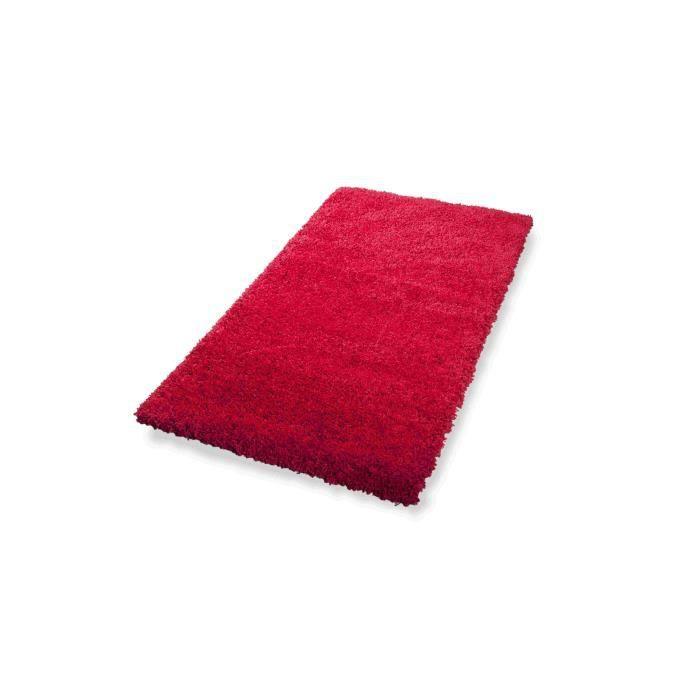 Dekowe tapis a poils longs lima rouge 80x150 cm achat for Tapis rouge avec canapé 145 cm