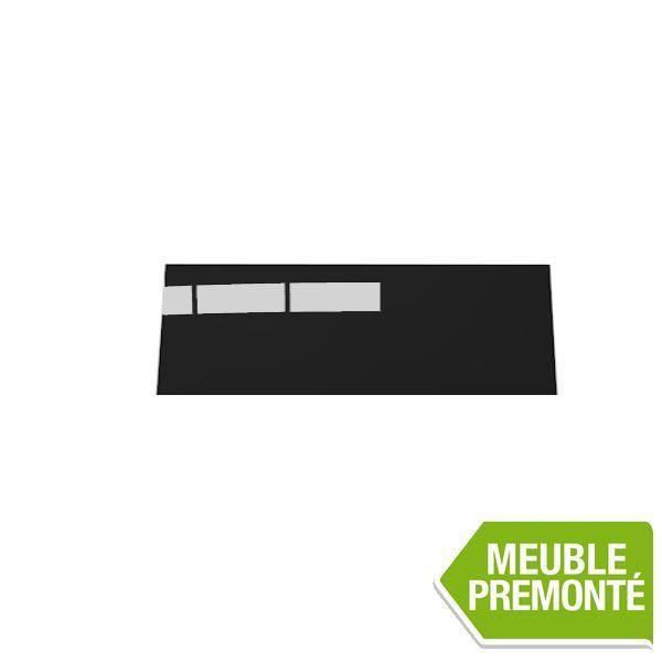 joue de finition 35x90 cristal anthracite achat vente finition meuble cuisine joue de. Black Bedroom Furniture Sets. Home Design Ideas