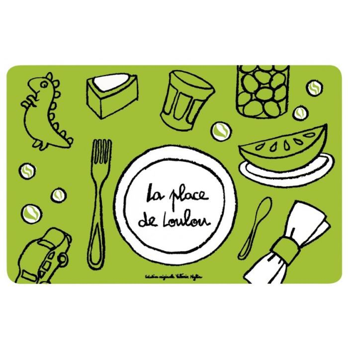 Set de table place de loulou vert dlp achat vente for Set de table originaux
