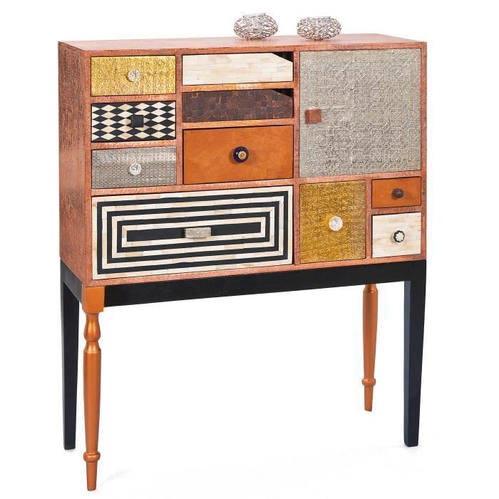 commode bahut buffet rangement japura 10 tiroirs achat. Black Bedroom Furniture Sets. Home Design Ideas