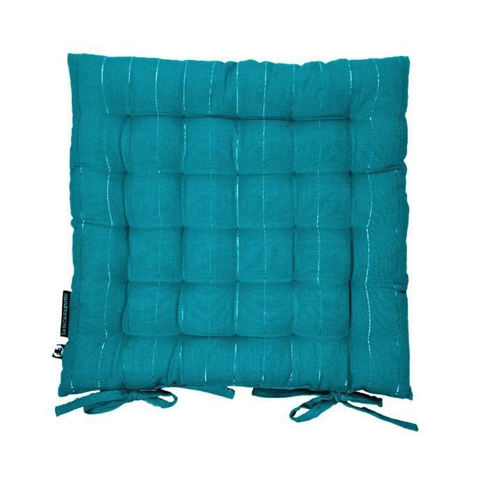 assise de chaise 40x40 lulu word bleu canard achat vente coussin de chaise cdiscount. Black Bedroom Furniture Sets. Home Design Ideas