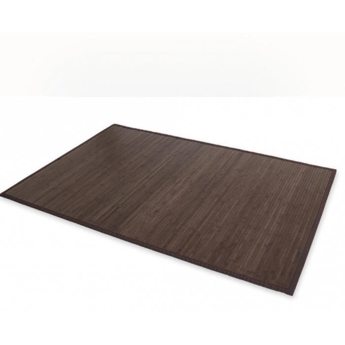tapis en bambou coloris brun fonc 80 x 200 cm achat vente tapis cdiscount. Black Bedroom Furniture Sets. Home Design Ideas
