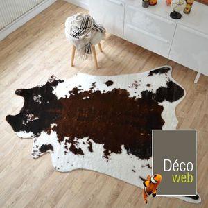 Tapis peau de bete achat vente tapis peau de bete pas cher cdiscount - Tapis imitation peau de vache ...