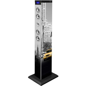 STATION D'ACCUEIL TOUR MULTIMEDIA MOTIF NEW YORK  BLUETOOTH PORT USB