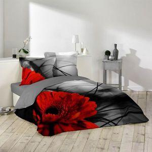housse de couette noir et rouge achat vente housse de couette noir et rouge pas cher les. Black Bedroom Furniture Sets. Home Design Ideas